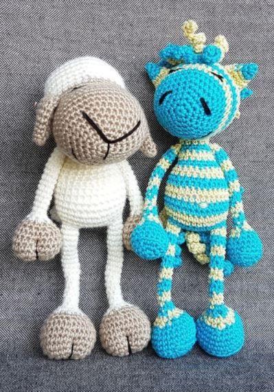 Süße Amigurumi Pärchen Zebra Und Schaf Zum Selberhäkeln