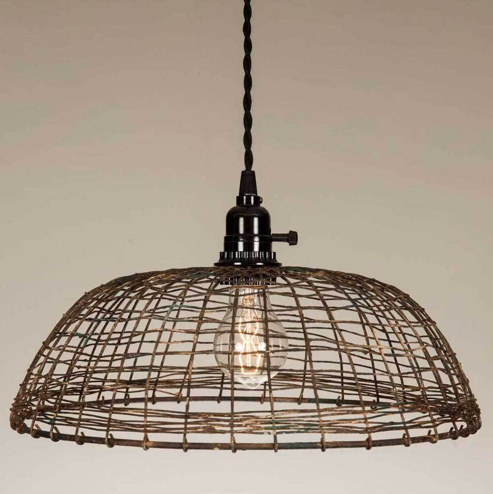 Woven wire pendant lamp wire pendant and products