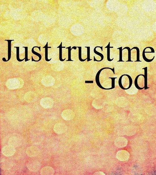 Why is it so hard to trust god