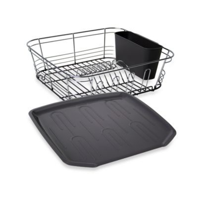 Omni Small Chrome Dipped Dish Drainer In Grey Bedbathandbeyond