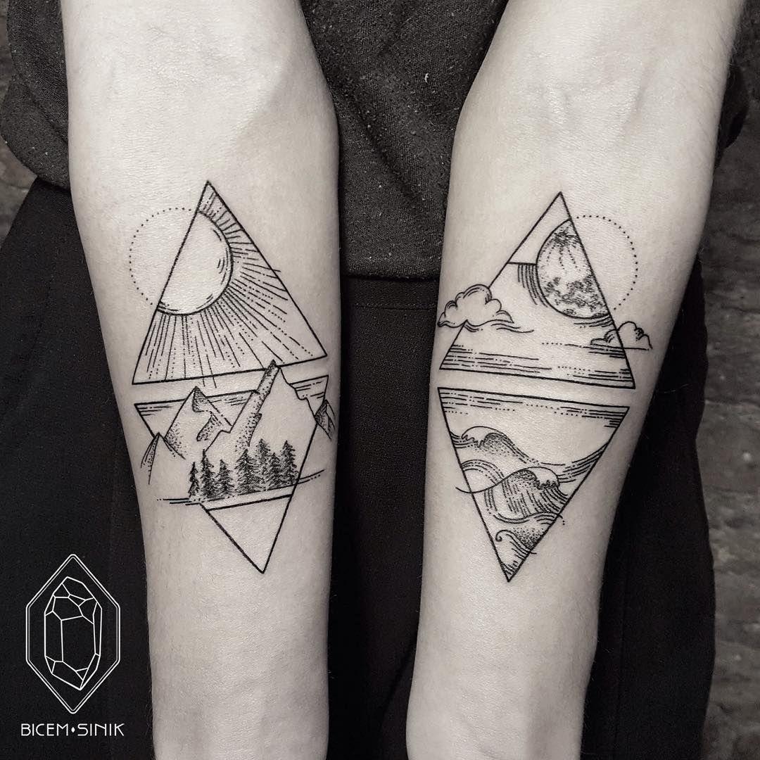 Exquisite Minimalist Geometric Tattoos Turkish Tattoo Artist Bicem Sinik Inks Masterful Geometric Tattoos Shape By Fi Tattoos Geometric Tattoo Tattoos For Guys