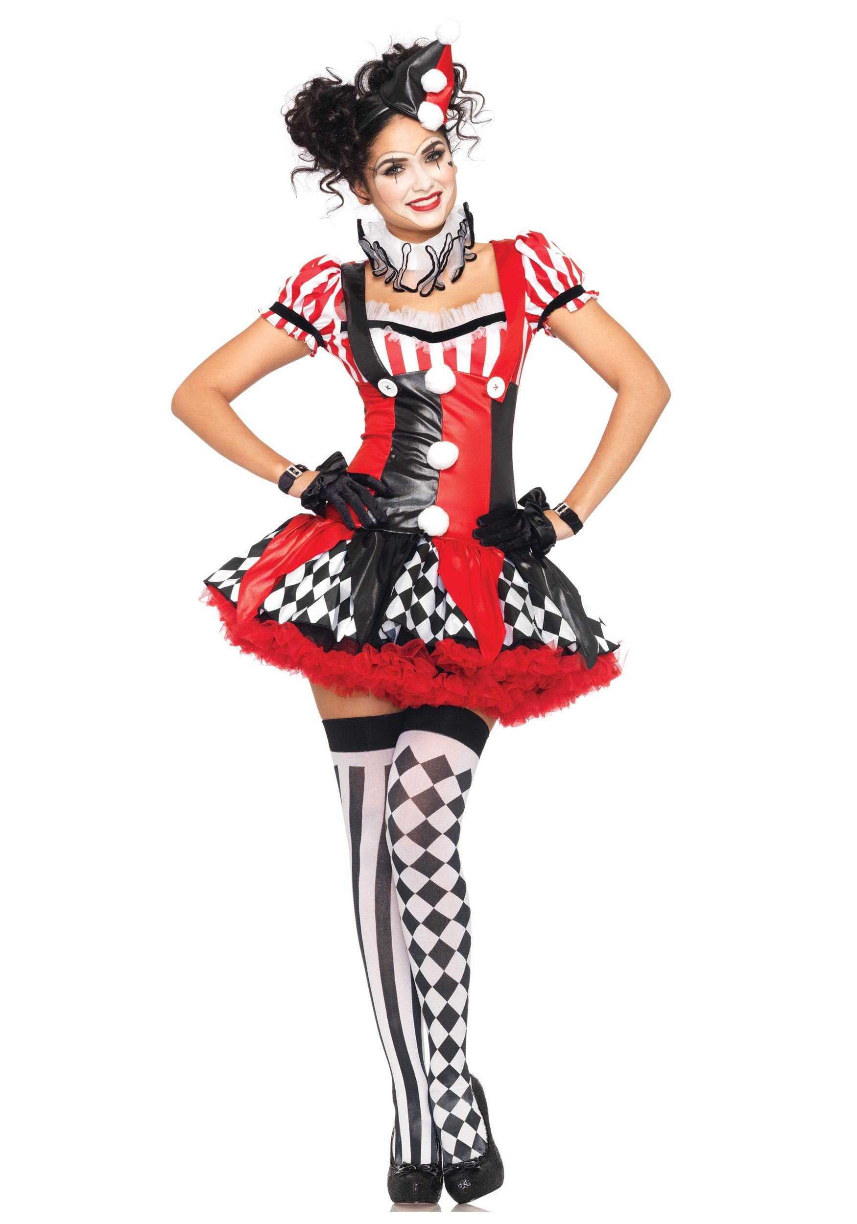 Naughty Harlequin Clown Costume | Joker costume, Harley quinn and ...