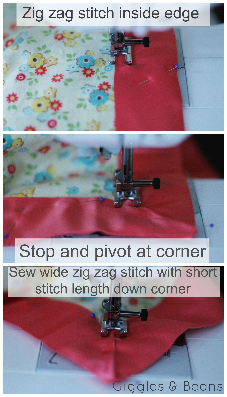 Sewblanketbindingcornergigglesandbeans sewing pinterest