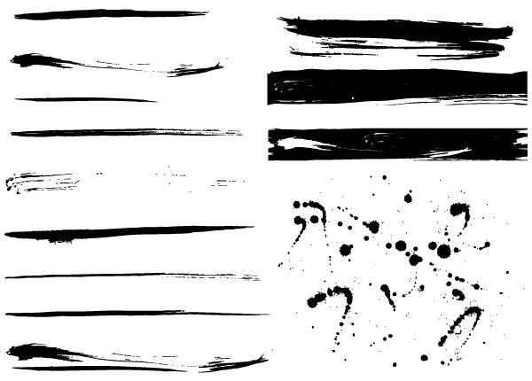 Free Grunge Paint Splashes Vector Paint Splash Thin Tattoo Brush Stroke Tattoo