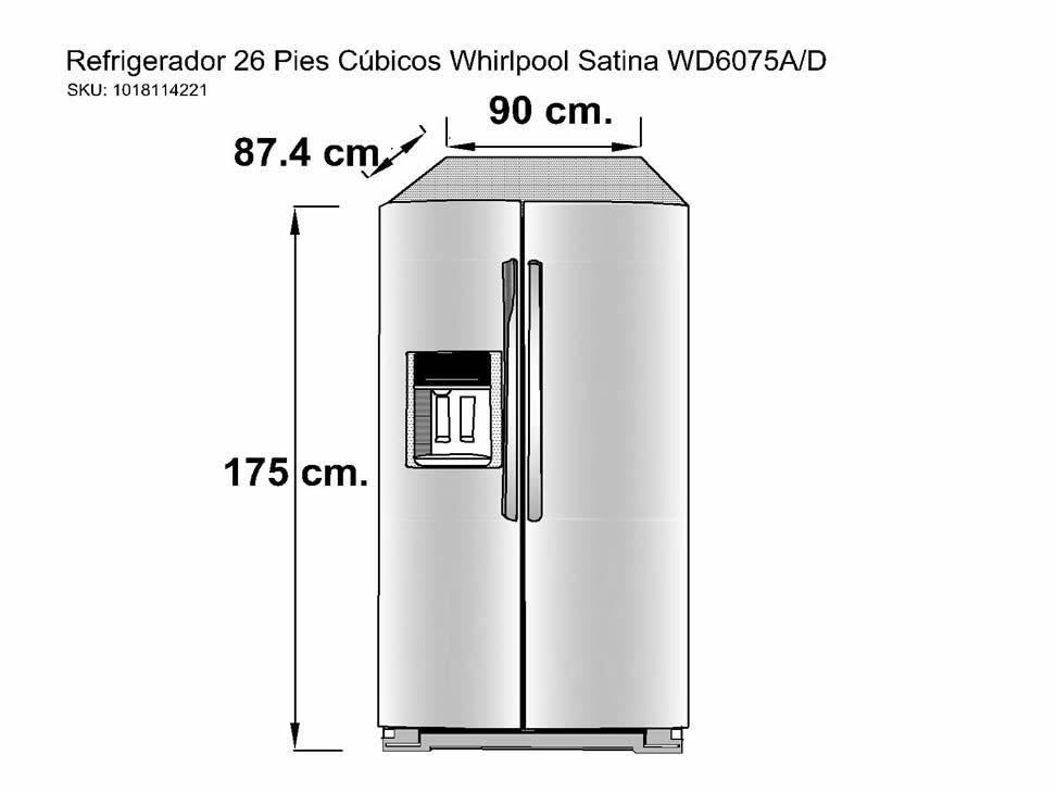 Refrigerador 26 Pies Cúbicos Whirlpool Satina WD6075A/D-Liverpool es parte de MI vida