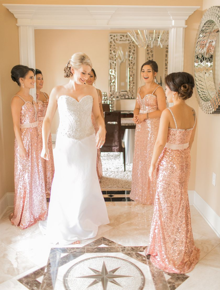Crystal palace wedding new orleans photographers natalia and crystal palace wedding new orleans photographers natalia and tyson blush pink glitter sequence bridesmaid ombrellifo Gallery