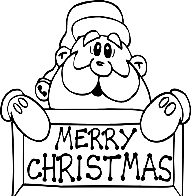 father christmas online coloring pages | Santa Claus Merry Christmas Coloring Pages | Merry ...