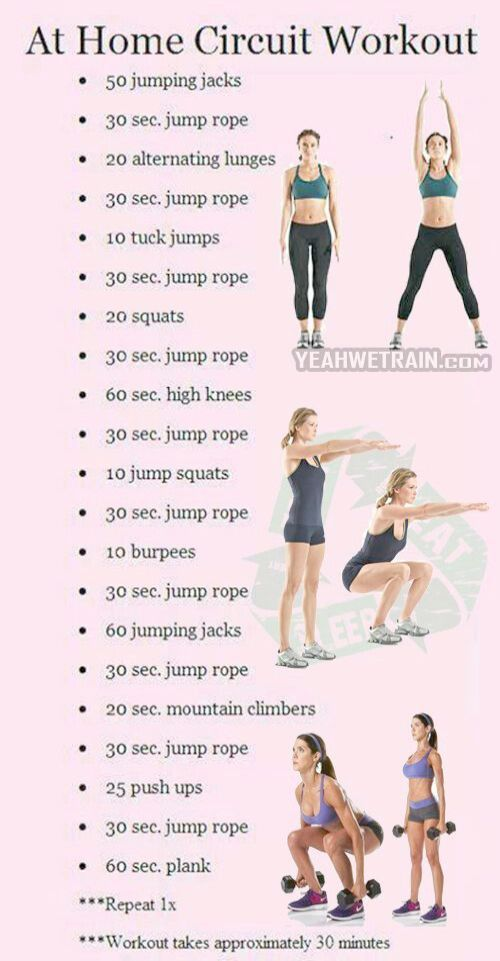 Home Circuit Workout Bodybuilding