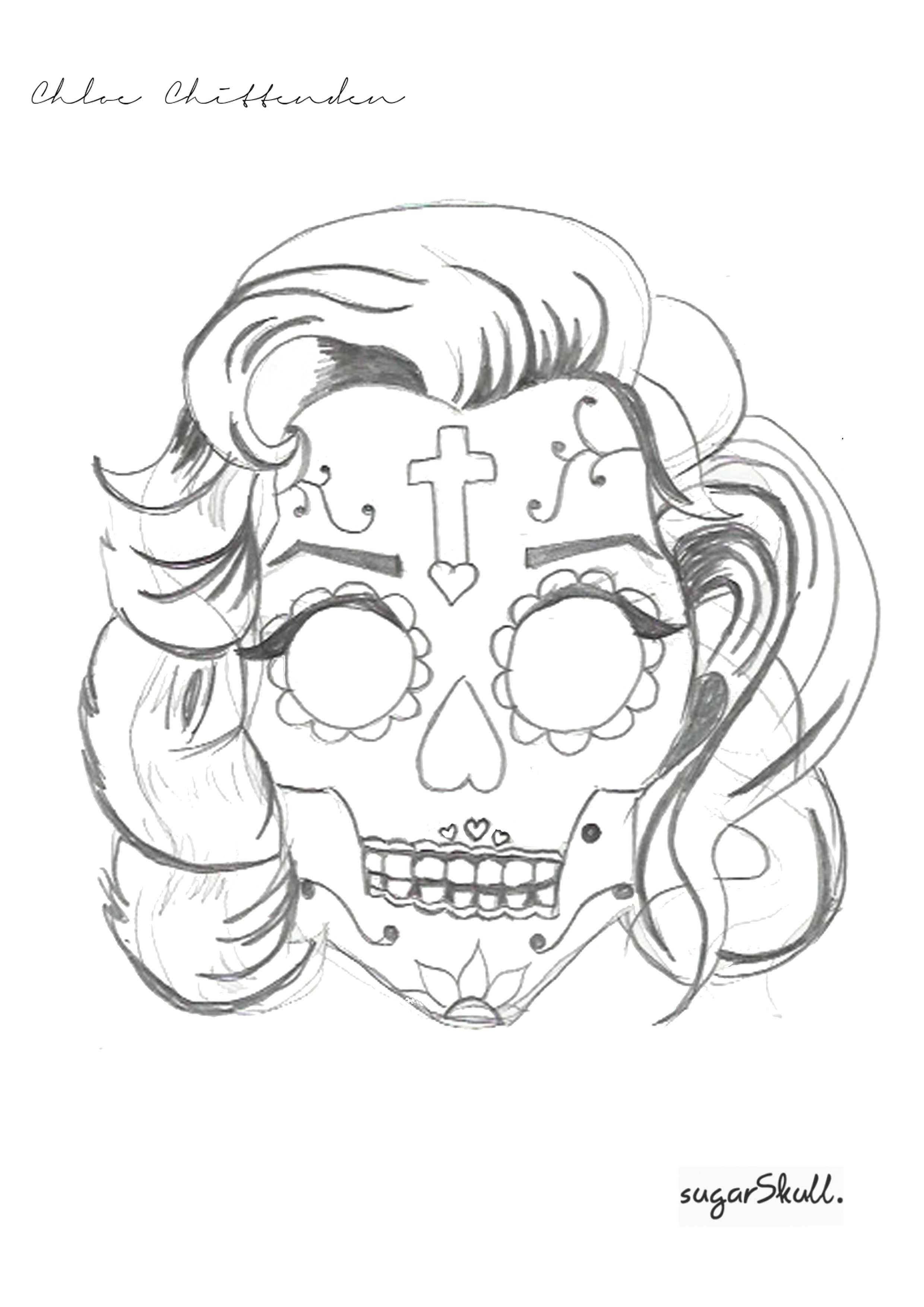 Sugar Skull T Shirt Design By Chloe Chittenden At Coroflot
