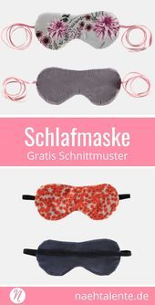 Sewing sleep mask with free sewing pattern and sewing instructions Nähtalente