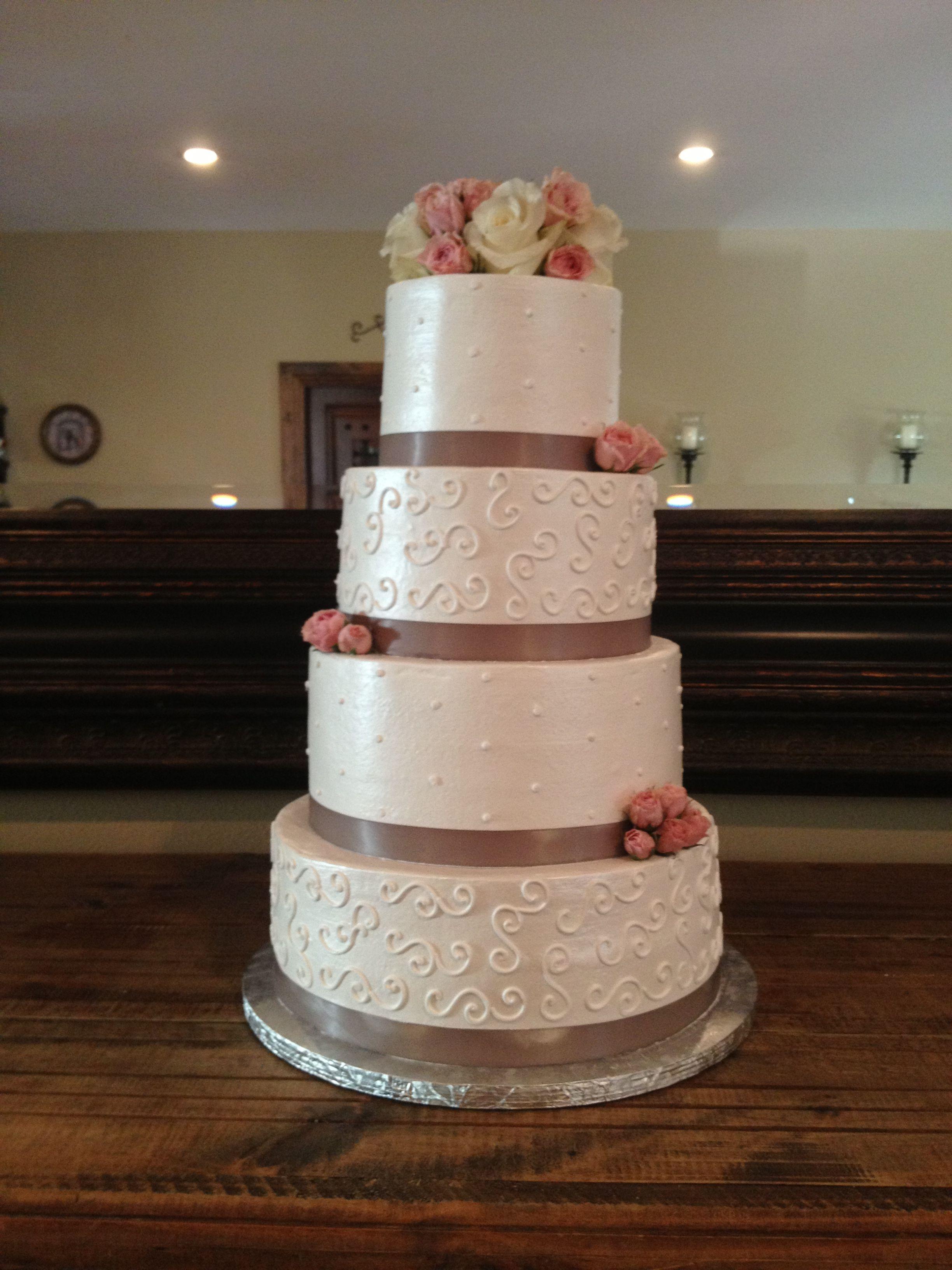 Combo Ribbon Pearl Drape Piping Design Wedding
