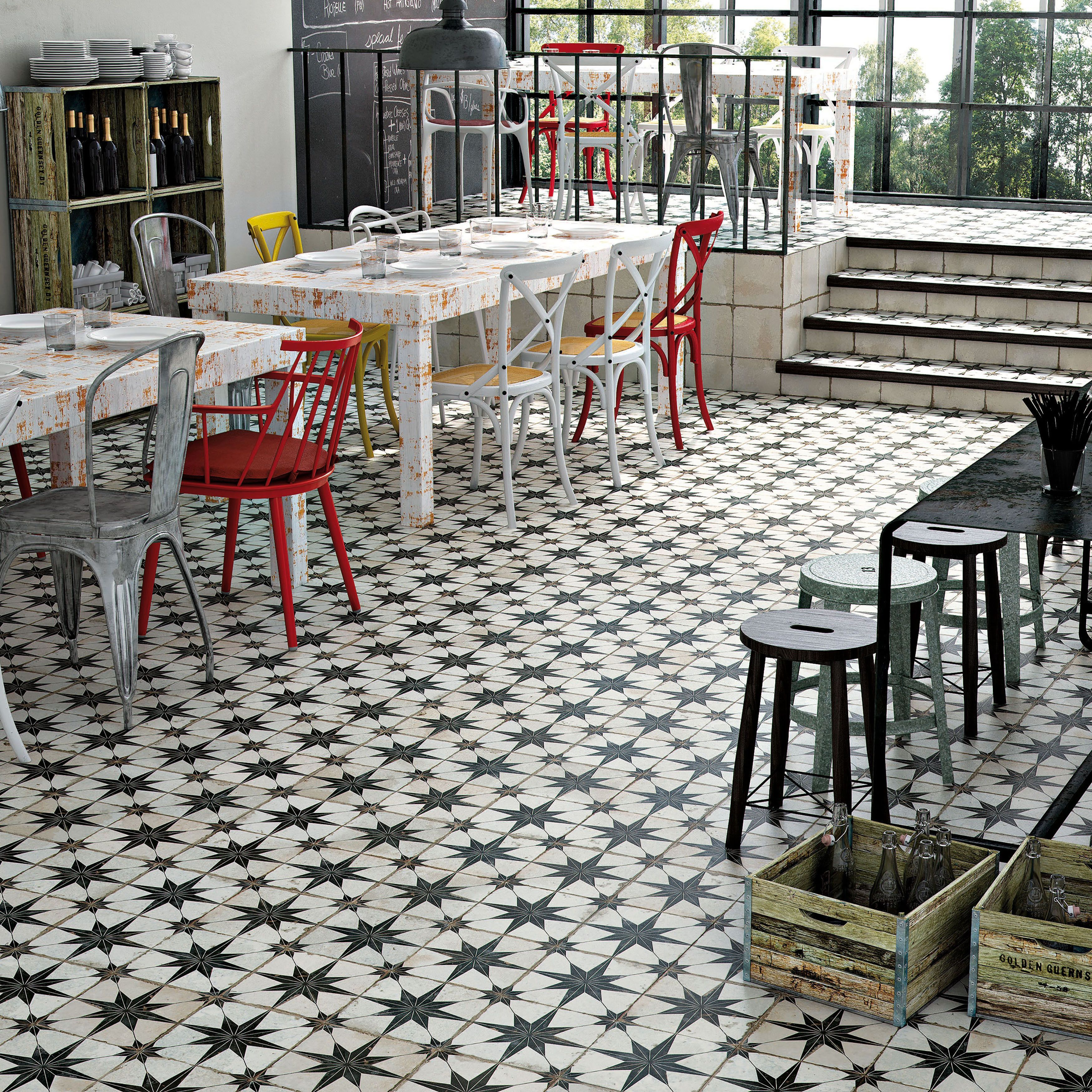 The somertile 17625x17625 inch estrella nero ceramic floor and the somertile 17625x17625 inch estrella nero ceramic floor and wall tile is dailygadgetfo Images