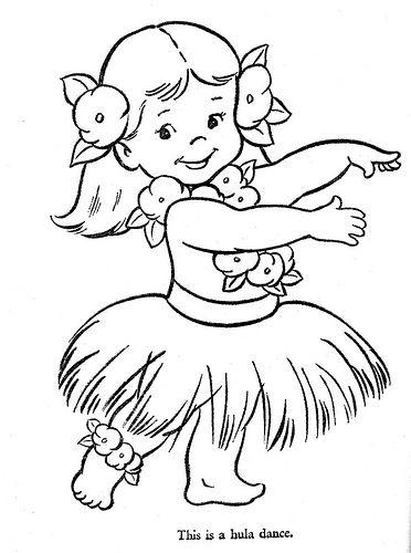 danseuse hawaïenne | coloriage | pinterest | hawaienne, danseurs