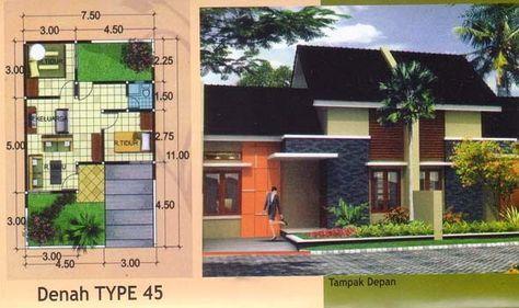desain rumah minimalis type 45 terbaru - desain rumah type