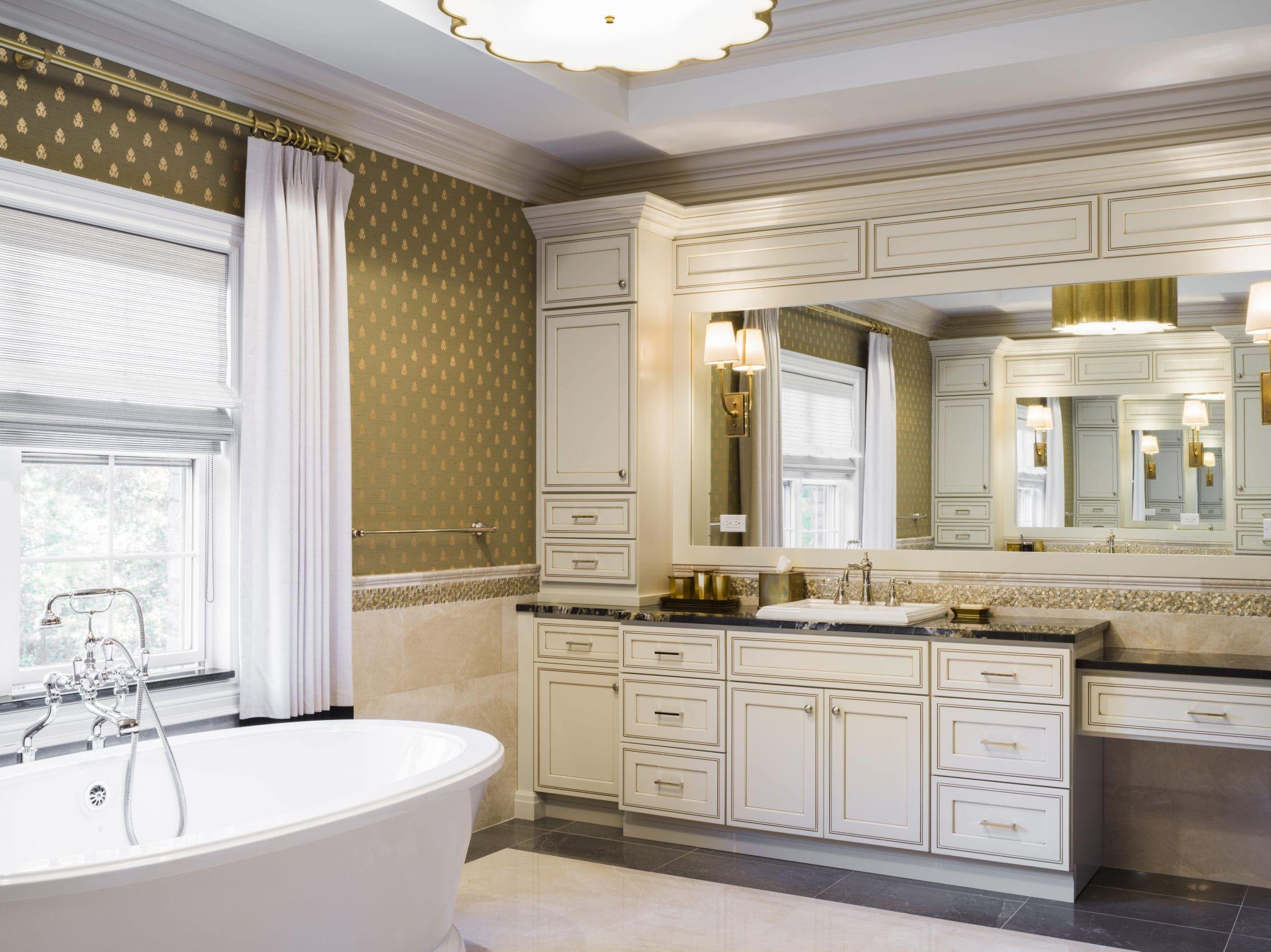 Pearl Maple Glazed Classic Bathroom Classic Cabinets Bath Cabinets