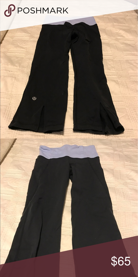 74c9e90a998c05 Lululemon Gather and Crow yoga pants Lululemon cropped yoga pants.  Excellent condition. Gently used. Matching sports bra in separate listing.  lululemon ...