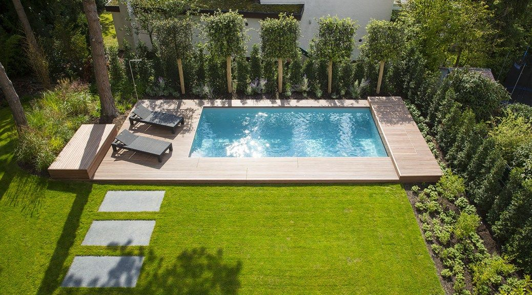 garten mit kleinem pool. Black Bedroom Furniture Sets. Home Design Ideas