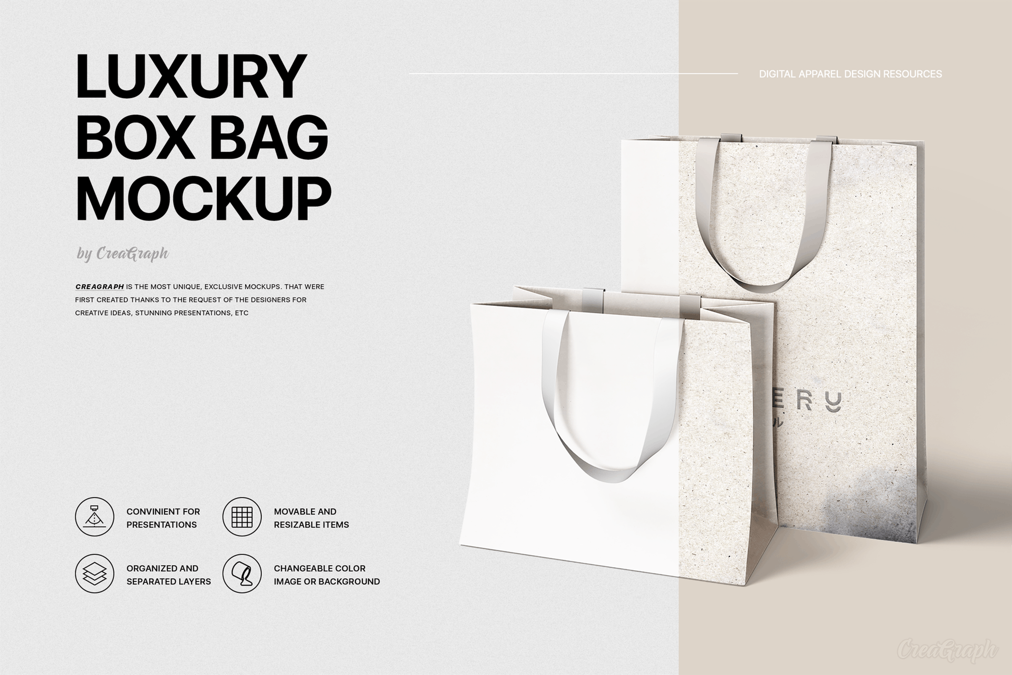 Download Cover Image For Luxury Box Bag Mockup Bag Mockup Luxury Boxes Box Bag