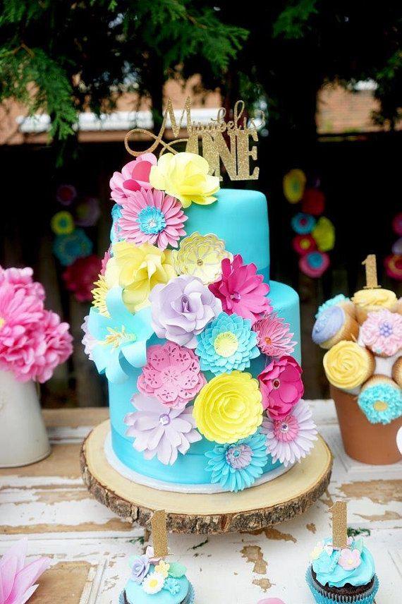 Mini Paper Flowers For Cake Decor Wedding Cake Flowers Birthday