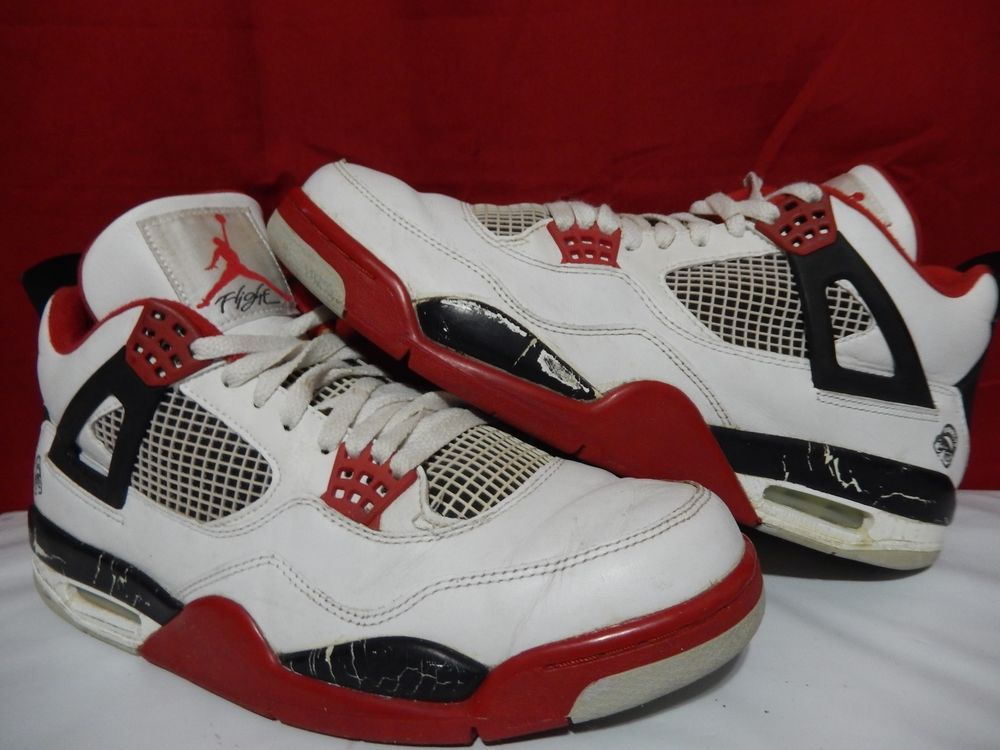 192fec8e076f20 Nike Air Jordan Retro IV 4 Mars Blackmon Fire Red White Black Sz 11.5 Spike  Lee  Nike  BasketballShoes