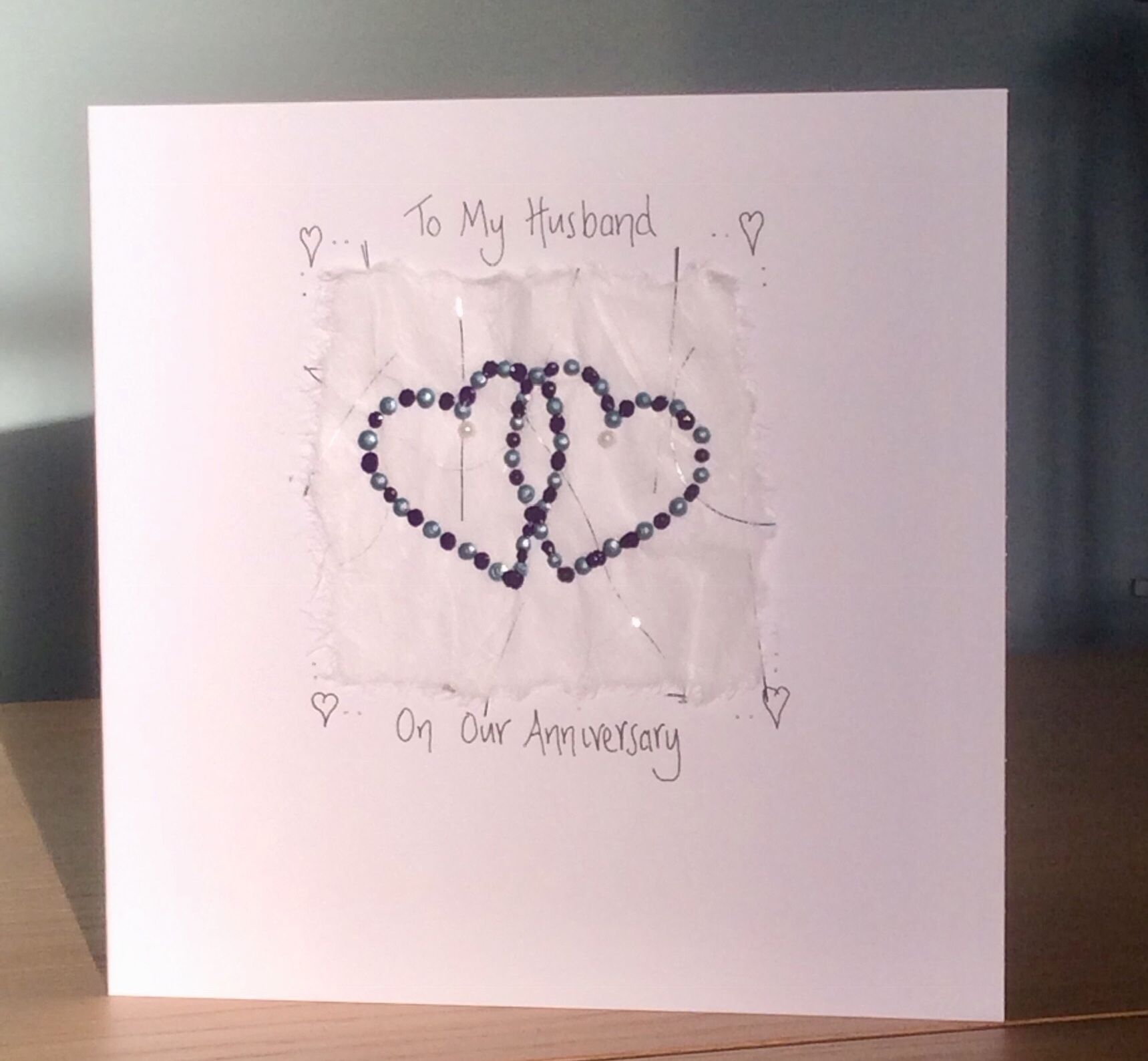 Anniversary card from a wife/partner to a husband ️