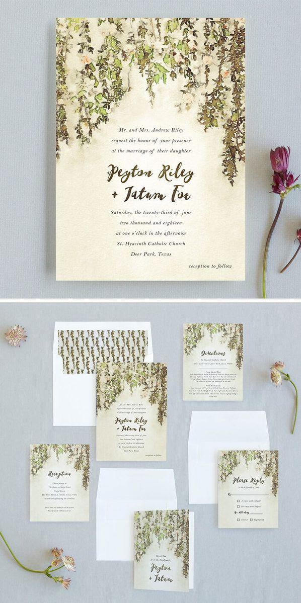 English Countryside Wedding Invitations Customizable