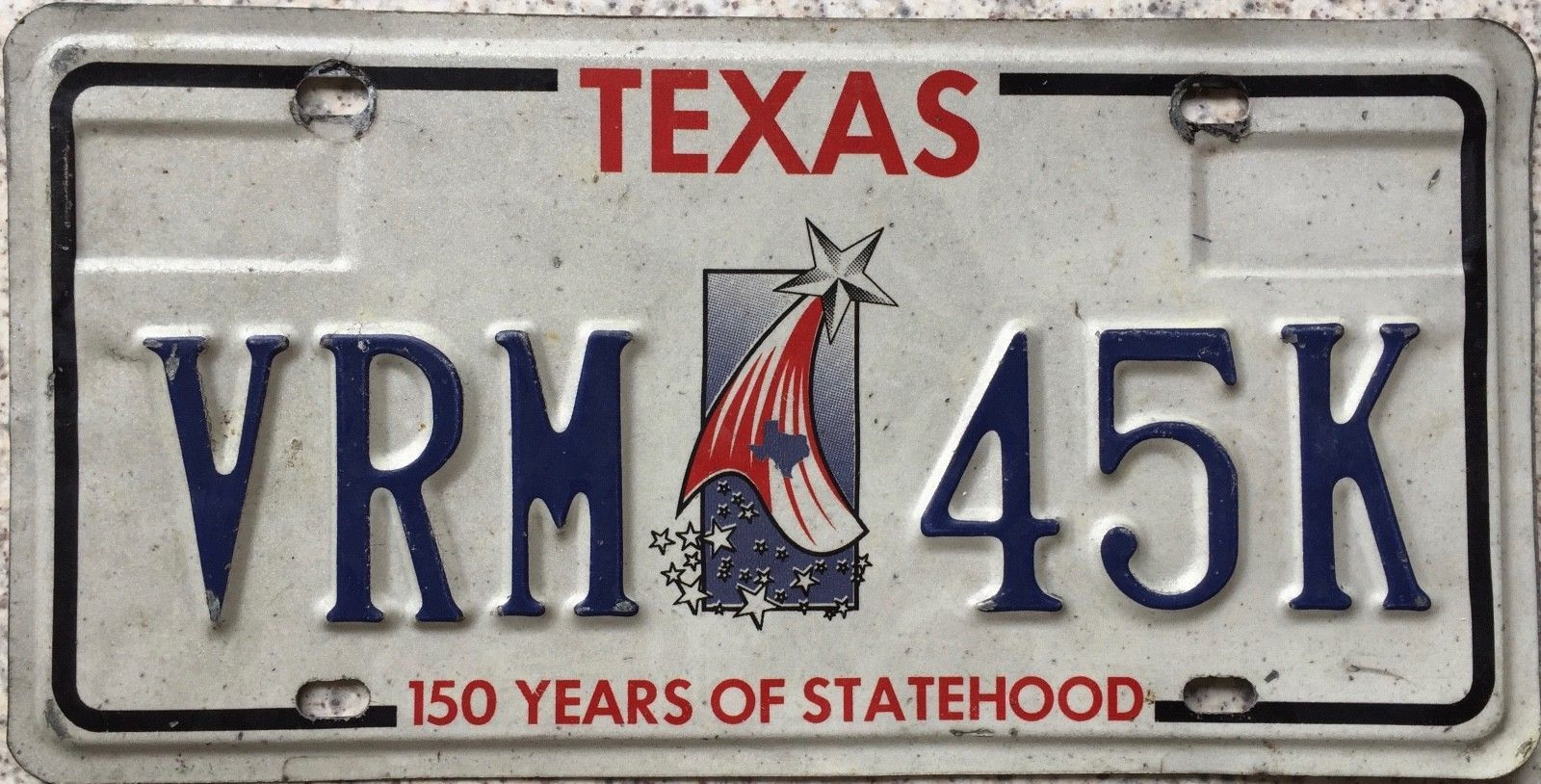 GENUINE Texas 150 Years of Statehood License Licence Number Plate ...