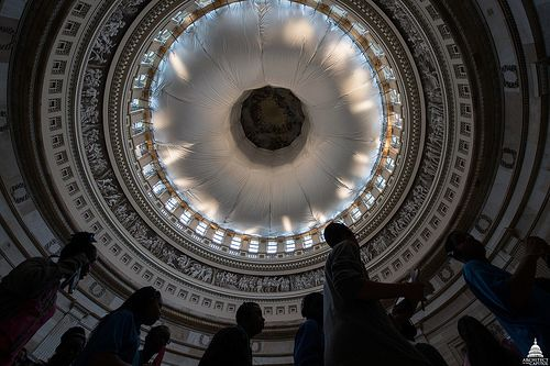 Capitol Dome Restoration - Rotunda Interior Protection by USCapitol, via Flickr