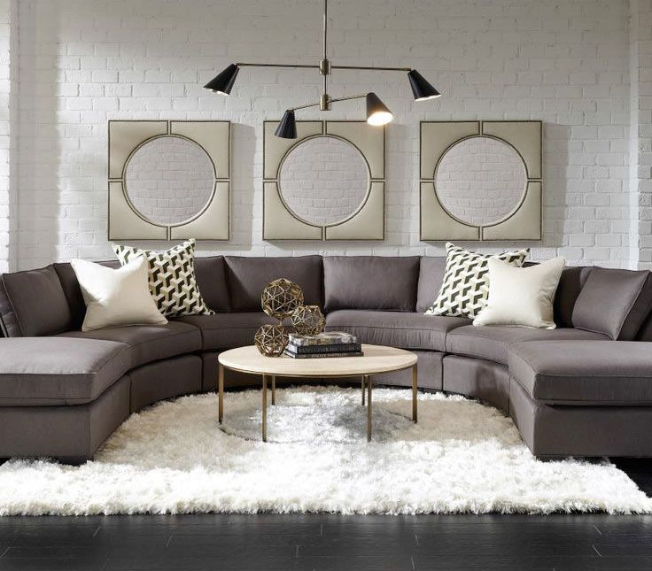 10 projetos de salas com sofás curvos selecionados pelo Pinterest - Casa