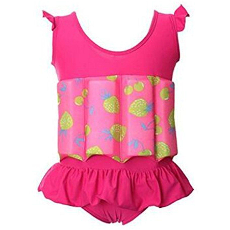 chinatera Baby Toddler Girls One Piece Swimsuit Bathing Suit Swimwear Toddler Kids Girls Split Swimsuit Bikini Set