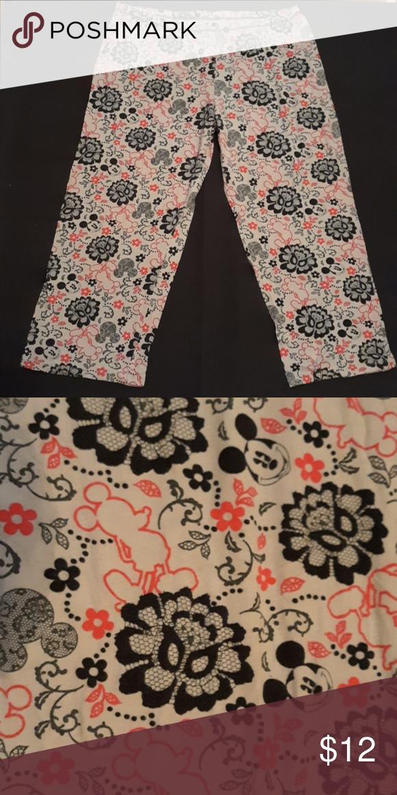 f1a4388b64ccb DISNEY MICKY MOUSE Pajama pants XL Grey Disney/Mickey Mouse Disney Intimates  & Sleepwear Pajamas