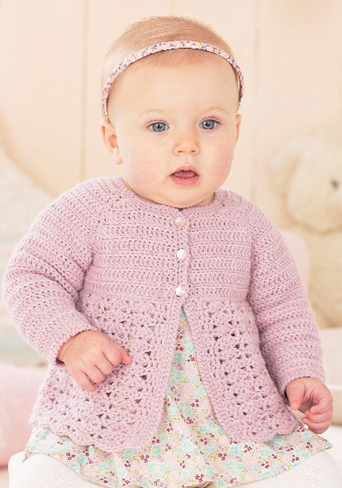 0b45ca5e75c1 Cardigans in Sirdar Snuggly 4 ply - 1420 - Downloadable PDF ...