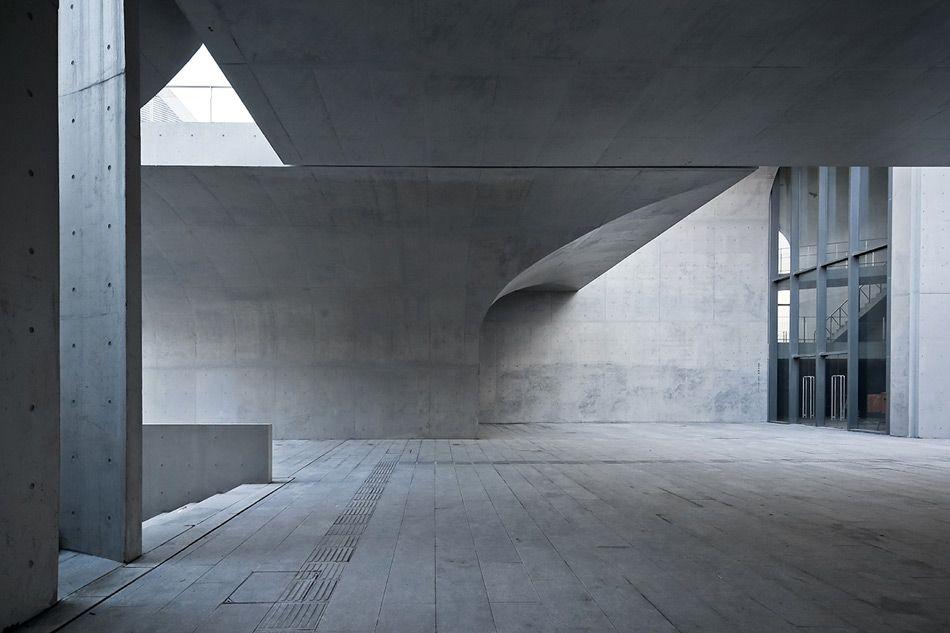 Vaulted Concrete Forms Shape Long Museum West Bund By Atelier Deshaus Concrete Architecture Architecture Space Architecture