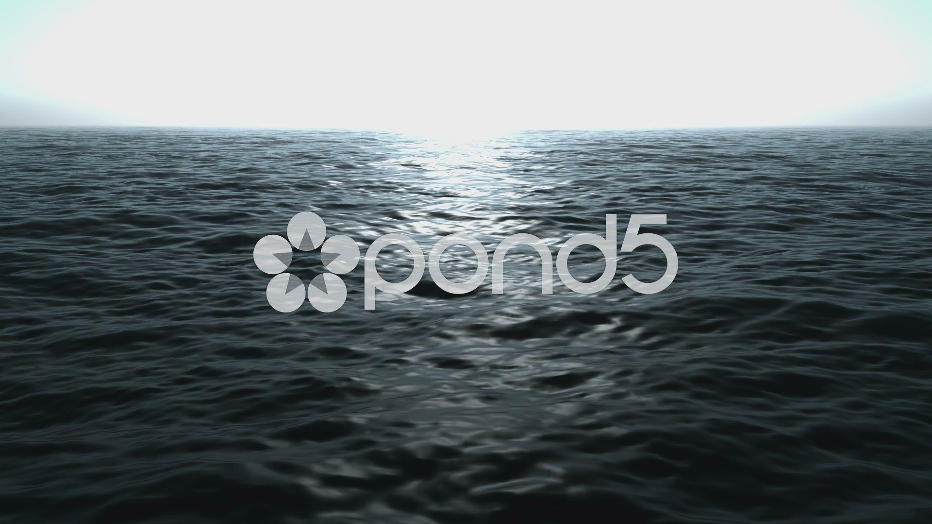 Wonderful ocean waves video animation, loop hd 1080p Stock Footage