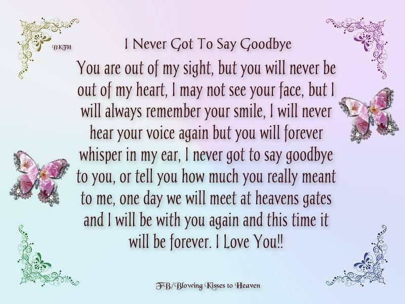 Never Got To Say Goodbye Quotes. QuotesGram