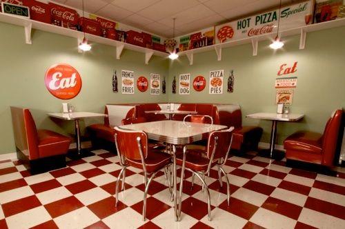 Maintenance Mode Diner Decor 1950s Diner Diner