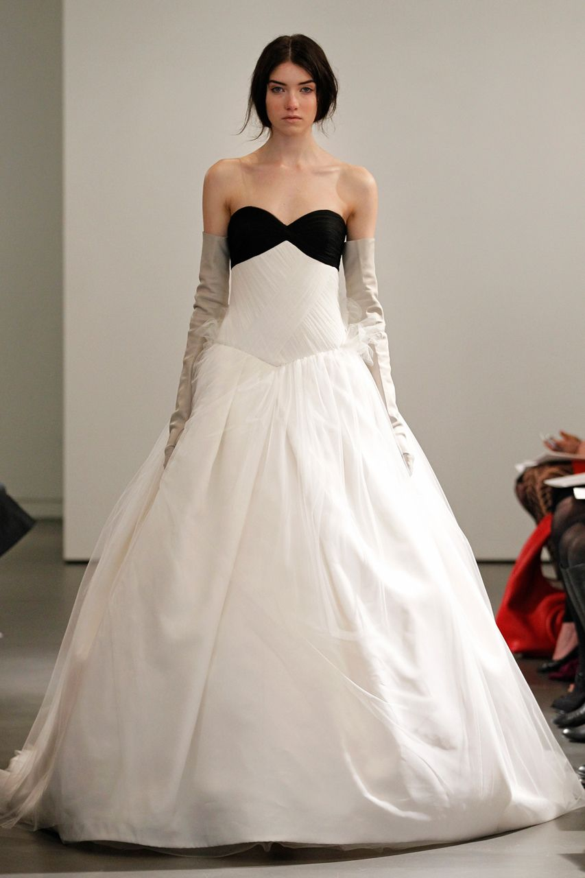 Wedding Gown Gallery Vera Wang Bridal Black White Wedding Dress Wedding Dresses Vera Wang [ 1280 x 853 Pixel ]