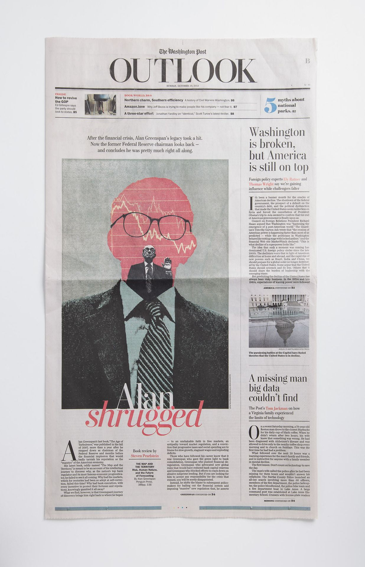 Greenspan Shrugged The Washington Post Cover Illustration By