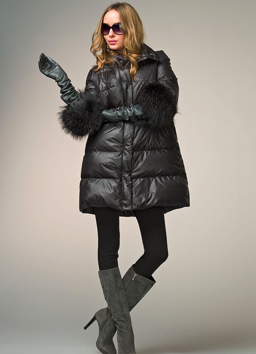 Модная зимняя куртка женская большого размера 185