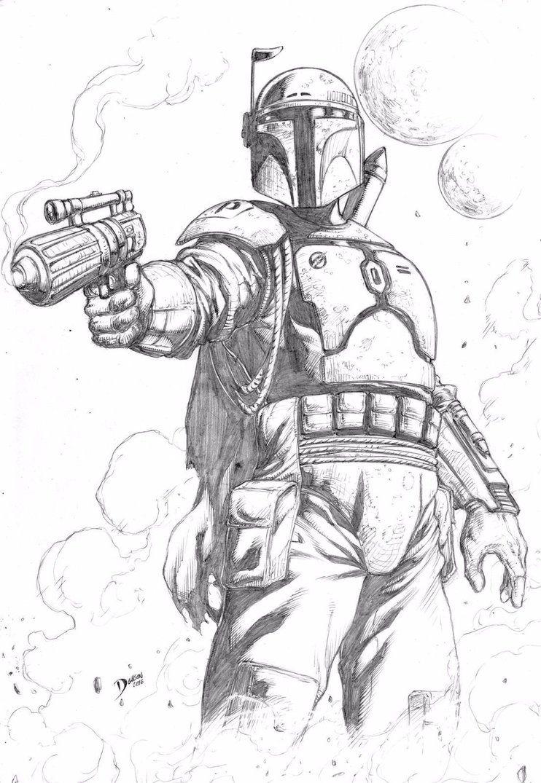 Boba Fett by Deilson on DeviantArt Star wars coloring