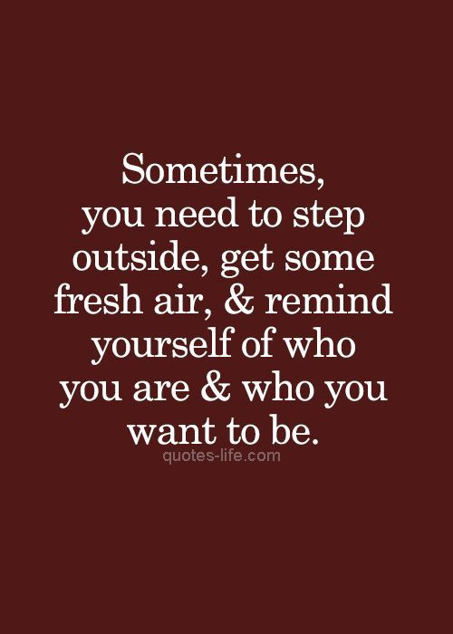 Air Quotes | Sometimes You Need To Step Outside Get Some Fresh Air