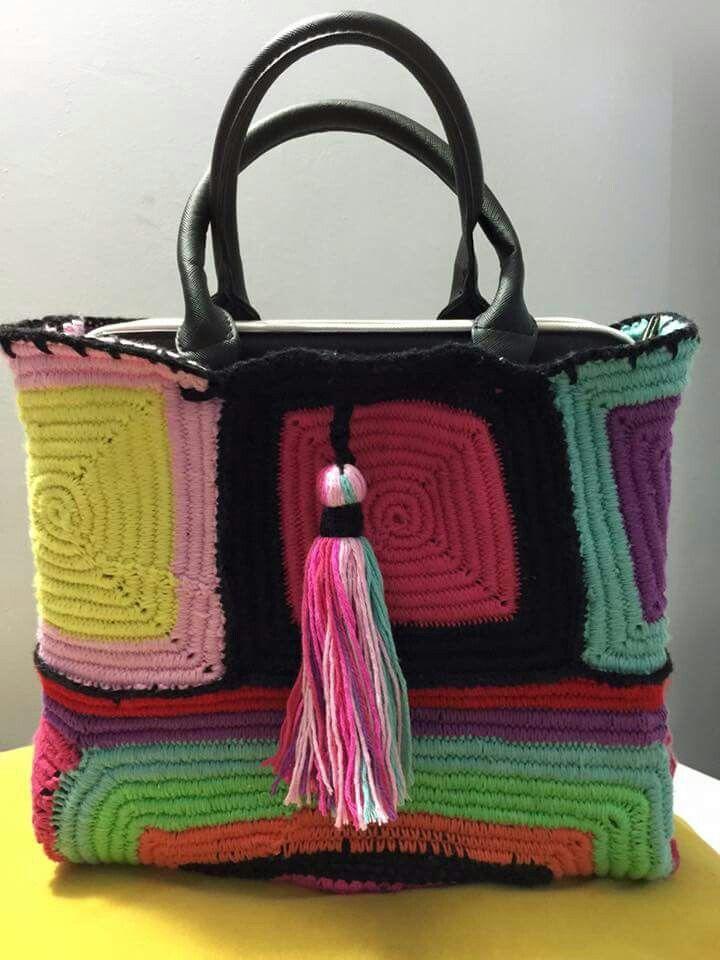 Pin von Gulce Fidanci auf Handmade bag   Pinterest   Tasche häkeln ...