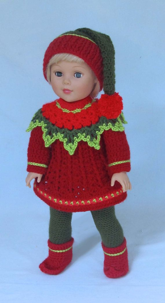 Crochet Doll Clothes Pattern Santas Litl Elves Pdf Download