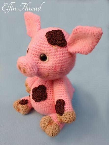 Francis the Piglet amigurumi pattern by Elfin Thread | Pinterest