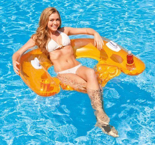 Intex Pool Floats Loungers Sit Floating Inflatable Recliners Air Chairs  Beverage #Intex