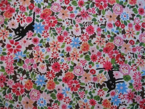 Cocoland Cats in Spring | Kokka  Pink Castle Fabrics  7.80/half yard