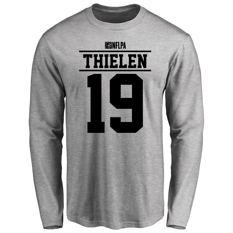 check out 13d42 af254 Adam Thielen Player Issued Long Sleeve T-Shirt - Ash ...