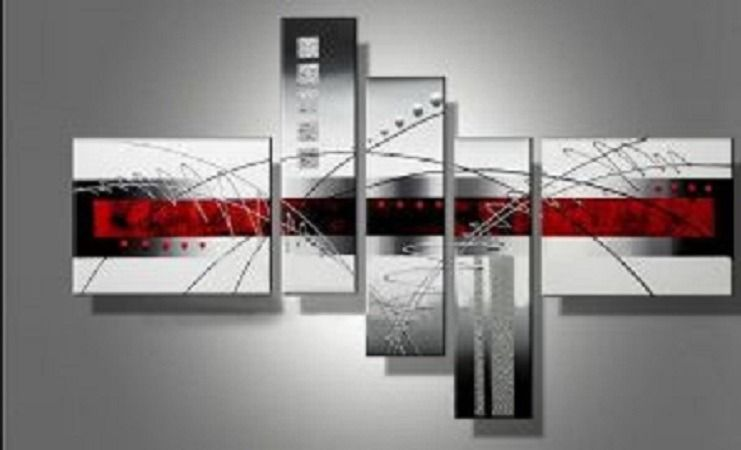 tableau design ice red 140x70 : décorations murales par tableaux
