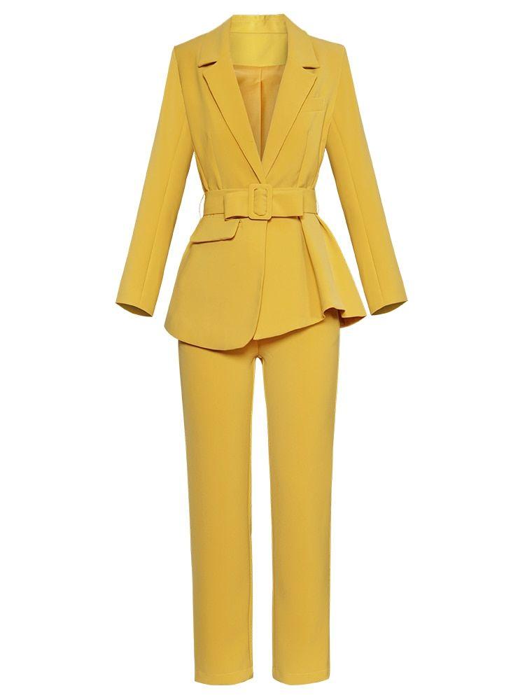 Pant Suits for Women Blazer /& Straight Pants Suits Set
