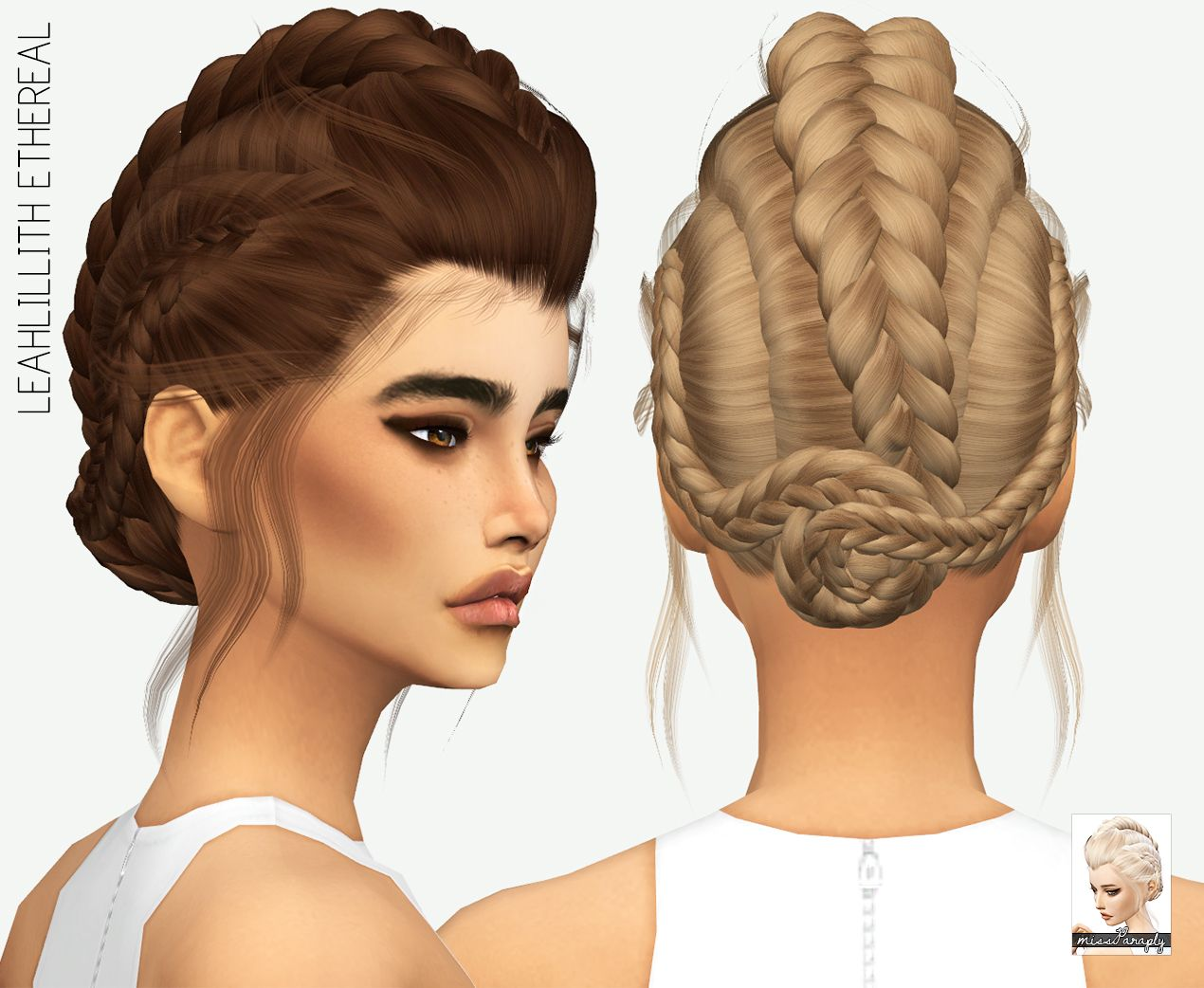 Miss Paraply: LeahLillith Etheral hair retextured  - Sims 4 Hairs - http://sims4hairs.com/miss-paraply-leahlillith-etheral-hair-retextured/